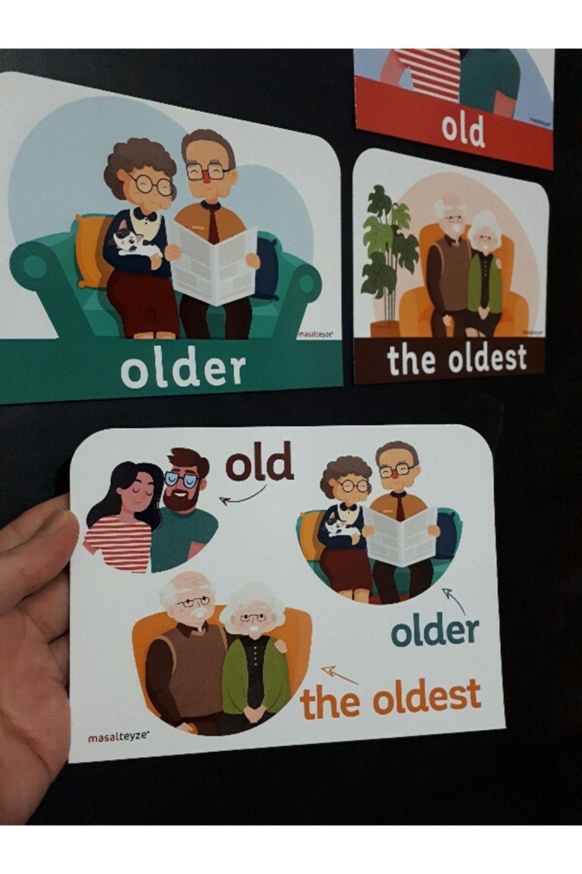 old-older-the oldest Magnet