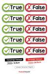 True-False 10'lu Magnet set